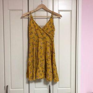 Wrap style floral mini dress